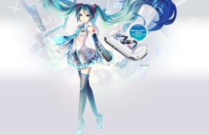 Rating: Safe Score: 32 Tags: hatsune_miku ixima thighhighs vocaloid User: aihost