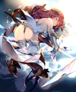 Rating: Questionable Score: 42 Tags: armor ass cameltoe godsworn_alexiel granblue_fantasy heels pantsu skirt_lift tagme thighhighs thong weapon User: BattlequeenYume