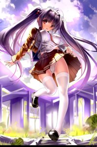 Rating: Questionable Score: 79 Tags: cameltoe erect_nipples miyazaki_byou pantsu thighhighs User: fireattack
