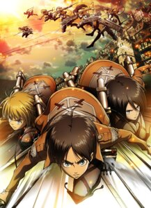 Rating: Safe Score: 28 Tags: annie_leonhardt armin_arlelt christa_lenz connie_springer eren_jaeger jean_kirschtein jpeg_artifacts landscape mikasa_ackerman sasha_browse shingeki_no_kyojin sword User: blooregardo