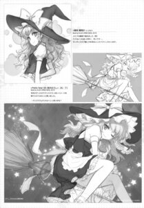 Rating: Safe Score: 8 Tags: an2a kirisame_marisa line_art monochrome touhou wind_mail User: fireattack