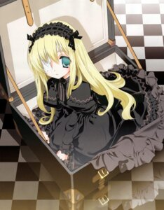 Rating: Safe Score: 29 Tags: eyepatch gothic_lolita lolita_fashion miyashita_miki User: castle