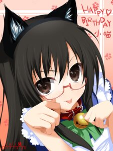 Rating: Safe Score: 27 Tags: animal_ears loli-pig maid megane nekomimi User: fireattack