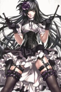Rating: Safe Score: 67 Tags: garter_belt gothic_lolita gun lolita_fashion sadakage thighhighs User: Mr_GT