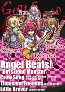 Rating: Safe Score: 4 Tags: angel_beats! guitar hisako irie_(angel_beats!) iwasawa seifuku sekine thighhighs ulogbe User: koyukidono