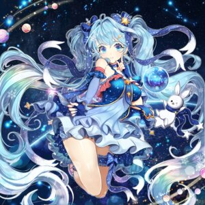 Rating: Safe Score: 76 Tags: dress garter hatsune_miku pass35 vocaloid yuki_miku User: Mr_GT