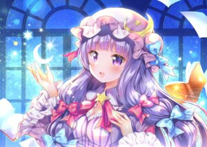 Rating: Questionable Score: 34 Tags: breast_hold cleavage momo_moyon patchouli_knowledge touhou User: sym455