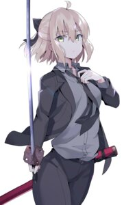 Rating: Safe Score: 31 Tags: 100percent business_suit fate/grand_order sakura_saber sword User: yanis