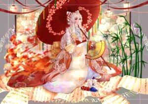 Rating: Safe Score: 24 Tags: fujiwara_no_mokou kamishirasawa_keine kimono touhou umbrella vibrato User: Mr_GT
