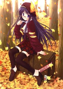 Rating: Safe Score: 29 Tags: amane_sou megane thighhighs User: WtfCakes