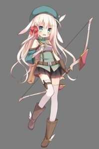 Rating: Safe Score: 50 Tags: animal_ears bandages bunny_ears hoshi thighhighs transparent_png weapon User: nphuongsun93