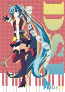 Rating: Safe Score: 43 Tags: hatsune_miku thighhighs vocaloid yukizuki_kei_(yossa) User: fairyren