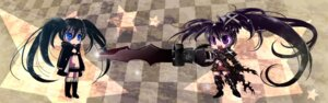 Rating: Safe Score: 11 Tags: babico black_rock_shooter black_rock_shooter_(character) chibi insane_black_rock_shooter sword vocaloid User: anaraquelk2