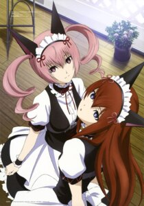 Rating: Safe Score: 51 Tags: faris_nyanyan maid makise_kurisu sakai_kyuuta steins;gate User: drop