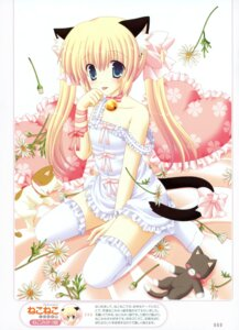 Rating: Safe Score: 53 Tags: animal_ears lingerie neko nekomimi nekoneko tail thighhighs User: crim