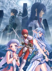 Rating: Safe Score: 9 Tags: adol_christin armor dress elf ernst geis isha olha pointy_ears sword taue_shunsuke weapon ys ys_vi User: blooregardo