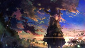 Rating: Safe Score: 29 Tags: landscape tagme thighhighs vocaloid wallpaper User: BattlequeenYume