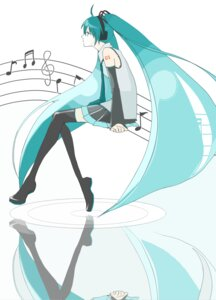 Rating: Safe Score: 5 Tags: hatsune_miku kijiyan thighhighs vocaloid User: yumichi-sama