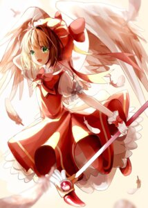 Rating: Safe Score: 19 Tags: card_captor_sakura dress kinomoto_sakura weapon wings yuzua User: saemonnokami
