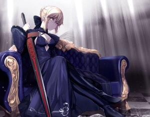 Rating: Safe Score: 18 Tags: cleavage dress fate/grand_order heels saber saber_alter sword untsue User: Mr_GT