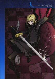 Rating: Safe Score: 13 Tags: business_suit fate/stay_night fate/zero miwa_shirow saber sword type-moon User: fireattack