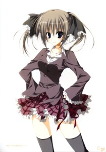 Rating: Safe Score: 23 Tags: inugami_kira seifuku seitokai_no_ichizon shiina_minatsu thighhighs User: WtfCakes