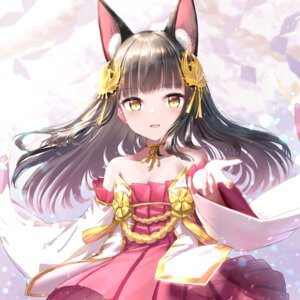 Rating: Safe Score: 21 Tags: animal_ears azur_lane cleavage dress kachiyori nagato_(azur_lane) User: Dreista