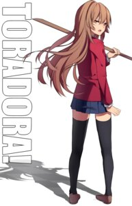 Rating: Safe Score: 33 Tags: aisaka_taiga seifuku shirotaka thighhighs toradora! User: BunnyGirls