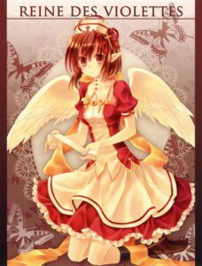 Rating: Safe Score: 31 Tags: crown dress elf nurse pointy_ears wings yashiro_seika User: petopeto