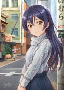 Rating: Safe Score: 35 Tags: kousaka_honoka love_live! shamakho sonoda_umi sweater User: hiroimo2