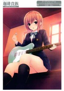 Rating: Safe Score: 51 Tags: coffee-kizoku guitar seifuku User: Hatsukoi