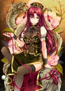 Rating: Questionable Score: 75 Tags: chinadress cleavage hong_meiling monety see_through thighhighs touhou User: mash