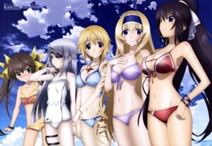 Rating: Questionable Score: 130 Tags: bikini cecilia_alcott charlotte_dunois cleavage eyepatch huang_lingyin infinite_stratos kuniyuki_yurie laura_bodewig shinonono_houki swimsuits User: drop