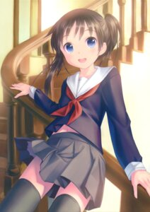 Rating: Safe Score: 51 Tags: kogemashita seifuku takoyaki thighhighs User: Twinsenzw