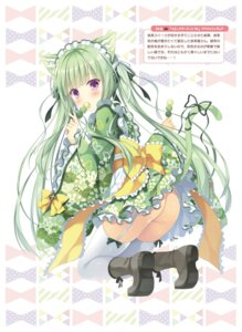 Rating: Questionable Score: 36 Tags: animal_ears ass heels loli machaneko-san maid nekomimi nopan skirt_lift stockings tail takano_yuki thighhighs wa_maid User: Twinsenzw