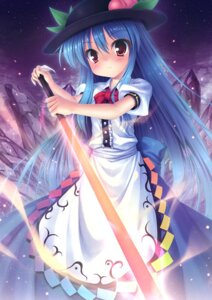 Rating: Safe Score: 23 Tags: dress hinanawi_tenshi sword takeponi_an touhou User: fireattack