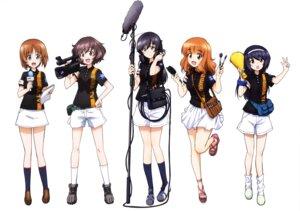 Rating: Safe Score: 12 Tags: akiyama_yukari girls_und_panzer headphones isuzu_hana nishizumi_miho reizei_mako takebe_saori uniform User: drop