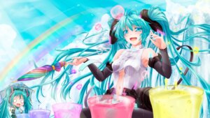 Rating: Safe Score: 25 Tags: chibi hachune_miku hatsune_miku miku_append tsukineko vocaloid wallpaper User: 椎名深夏