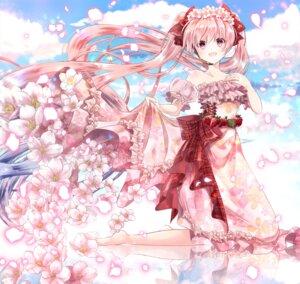 Rating: Safe Score: 50 Tags: dress hatsune_miku iroha_(shiki) sakura_miku vocaloid User: Mr_GT