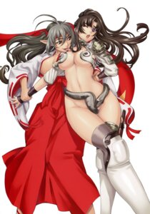 Rating: Questionable Score: 55 Tags: armor cleavage cosplay echidna eiwa elf erect_nipples keltan miko no_bra nopan open_shirt pointy_ears queen's_blade sword thighhighs tomoe yuri User: YamatoBomber