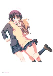 Rating: Safe Score: 25 Tags: mitsuki_(mangaka) seifuku sweater watashi_no_tomodachi_ga_sekaiichi_kawaii User: fireattack