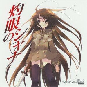 Rating: Safe Score: 8 Tags: ito_noizi paper_texture seifuku shakugan_no_shana shana sword thighhighs User: Sangwoo