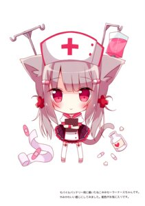 Rating: Safe Score: 14 Tags: animal_ears chibi hoshi nekomimi nurse seifuku stockings tail thighhighs User: kiyoe