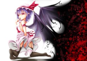 Rating: Safe Score: 36 Tags: blood devil dress lolita_fashion onigiri_(artist) remilia_scarlet stockings thighhighs touhou wings User: charunetra