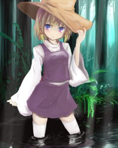 Rating: Safe Score: 30 Tags: mokichi812 moriya_suwako thighhighs touhou wet User: Mr_GT