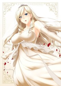 Rating: Safe Score: 49 Tags: celia_cumani_aintree cleavage dress no.gomes walkure_romanze wedding_dress User: charunetra