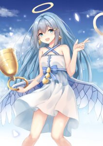 Rating: Safe Score: 39 Tags: angel bellringer_angel_(shadowverse) dress shadowverse skirt_lift wings ym_(distance819) User: sym455
