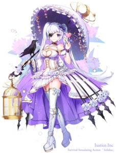 Rating: Questionable Score: 29 Tags: apple-caramel cleavage dress eyepatch gothic_lolita heels lolita_fashion no_bra solidus stockings thighhighs umbrella User: Mr_GT
