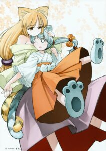 Rating: Safe Score: 9 Tags: animal_ears miko tail takahata_yuki toranoana User: midzki