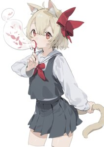 Rating: Questionable Score: 12 Tags: animal_ears rumia seifuku sh tail touhou User: Dreista